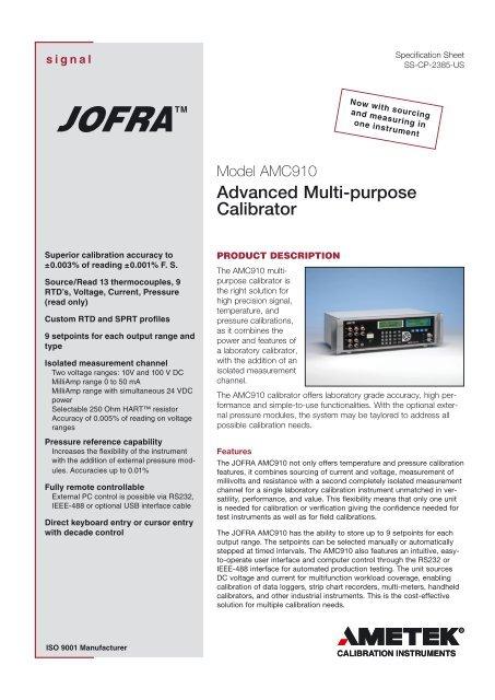 Advanced Multi-purpose Calibrator - PK elektronik Poppe GmbH