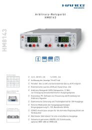 Hameg HM8143 Labornetzgerät - PK elektronik Poppe GmbH