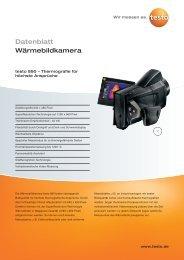 testo 890 Wärmebildkamera für Bau und Industrie