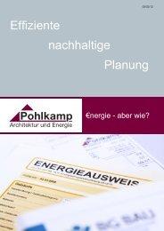 Effiziente nachhaltige Planung - Pohlkamp Architektur & Energie