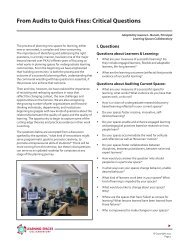 From Audits to Quick Fixes: Critical Questions - Learning Spaces ...