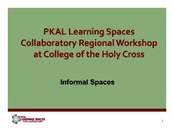 Informal Spaces - Learning Spaces Collaboratory