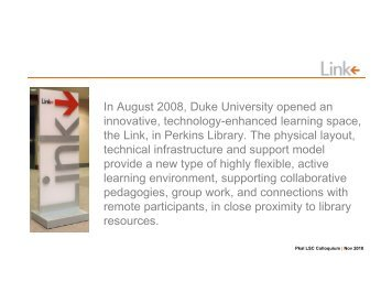 The Link at Duke University - Learning Spaces Collaboratory