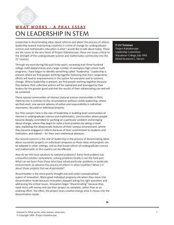 On Leadership In STEM- Treisman.indd