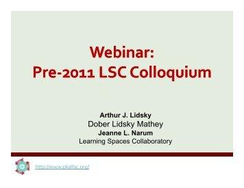 Webinar Presentation - Learning Spaces Collaboratory