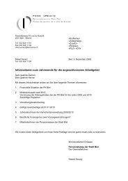 Informations de fin d'année - bei der Pensionkasse der Stadt Biel