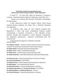 Informacja z konferencji organizowanej przez Stowarzyszenie Polski ...