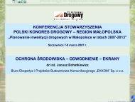 ochrona środowiska - Polski Kongres Drogowy