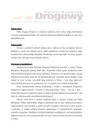 Deklaracja programowa - Polski Kongres Drogowy