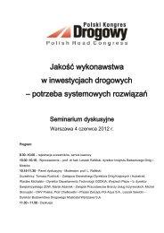 Kalendarium wystąpień PKD w sprawie jakości - Polski Kongres ...