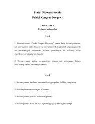 Statut Stowarzyszenia Polski Kongres Drogowy