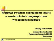 Kruszywa związane hydraulicznie w nawierzchniach i w ...