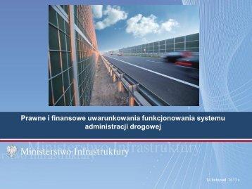R. Stępień, Ministerstwo Infrastruktury - Polski Kongres Drogowy