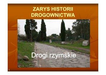 Historia drogownictwa - Ireneusz Czaja