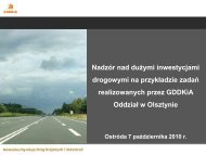 Nadzór nad inwestycjami - GDDKiA Olsztyn - M.Nicewicz