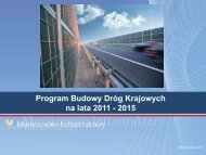 Program Budowy Dróg Krajowych 2011-2015 - R.Stępień, MI