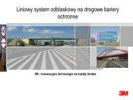 System odblaskowy na drogowe bariery ochronne