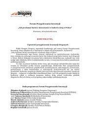 Forum Przygotowania Inwestycji - Polski Kongres Drogowy