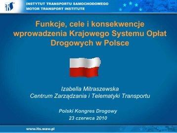 Funkcje, cele i konsekwencje wprowadzenia KSOD - I.Mitraszewska ...