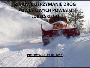 Zimowe utrzymanie dróg- lubelskie - drogi powiatowe