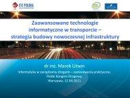 Zaawansowane technologie informatyczne w transporcie – strategia ...