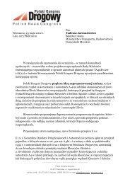 Stanowisko PKD - Polski Kongres Drogowy