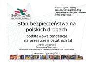 Stan bezpieczeństwa na polskich drogach - Polski Kongres Drogowy