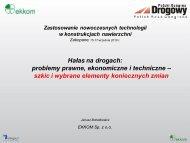 Hałas na drogach - problemy - J.Bohatkiewicz