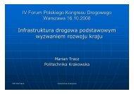 Infrastruktura drogowa podstawowym wyzwaniem rozwoju kraju