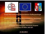 Województwo Podkarpackie - Polski Kongres Drogowy