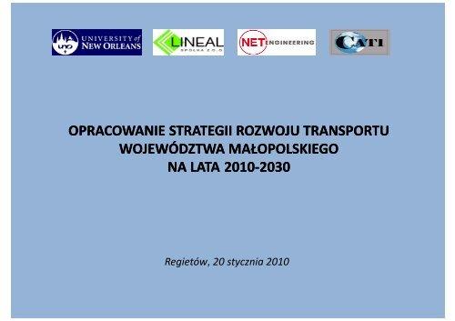 opracowanie strategii rozwoju transportu województwa ...