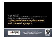 Ocena adhezji asfaltów modyfikowanych - dr J.Król