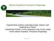 Nowe zadania Inspekcji Transportu Drogowego - M.Flieger, GITD