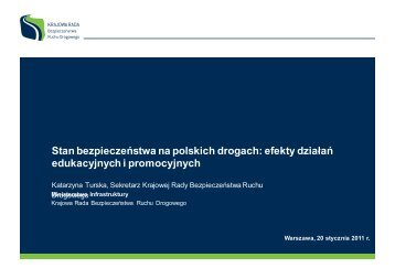 Stan bezpieczeństwa na polskich drogach: efekty działań ...