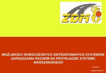 Zintegrowany System Zarządzania Ruchem w Warszawie