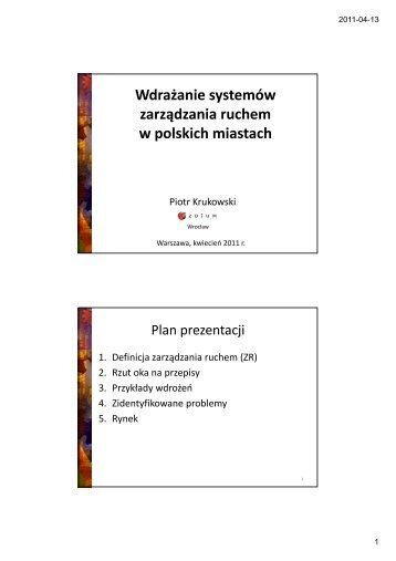 Wdrażanie systemów zarządzania ruchem w polskich miastach