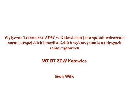 WT BT ZDW Katowice