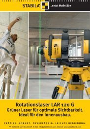 Produktinformationen STABILA Rotationslaser LAR ... - PK Elektronik