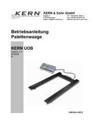 Betriebsanleitung Palettenwaage - PK Elektronik