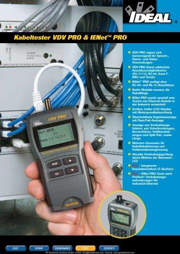 Produktinformationen IDEAL Kabeltester IENet PRO ... - PK Elektronik