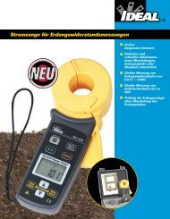 Produktinformationen IDEAL Erdungsmesszange 61 ... - PK Elektronik