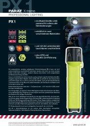 Produktinformationen PARAT Sicherheitslampe PX 1 - PK Elektronik