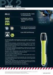 Sicherheitslampe PARAT PX 2 - PK Elektronik