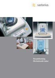 Katalog Sartorius Mechatronik Labor - PK Elektronik