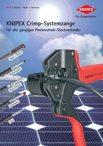 Produktinformationen Knipex Crimp-Systemzange ... - PK Elektronik