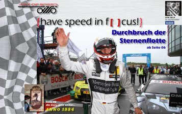 {have speed in f[ ]cus!} 02 Rennen DTM 2014 Oschersleben