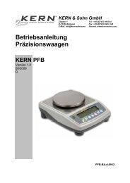 KERN PFB - PK Elektronik