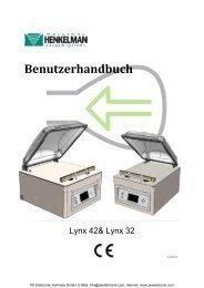 Bedienungsanleitung Henkelman Vakuumiergeräte ... - PK Elektronik
