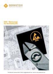 Katalog Bernstein ESD Werkzeuge - PK Elektronik