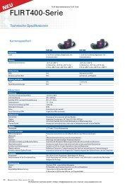 Datenblatt FLIR Wärmebildkamera FLIR T440 - PK Elektronik